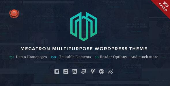 Megatron v1.2 — Responsive MultiPurpose WordPress Theme