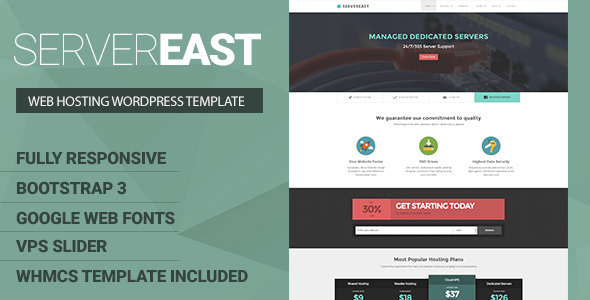 ServerEast — VPS Hosting WordPress Theme + WHMCS