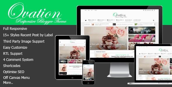 Ovation — News/Magazine Responsive Blogger Theme