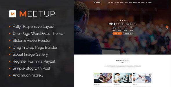 Meetup v1.0 — Conference Event WordPress Theme