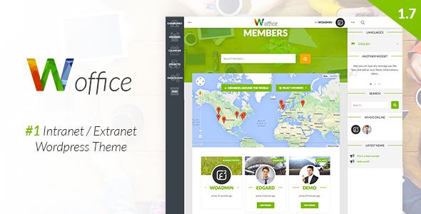 Woffice v1.7.1 — Intranet/Extranet WordPress Theme