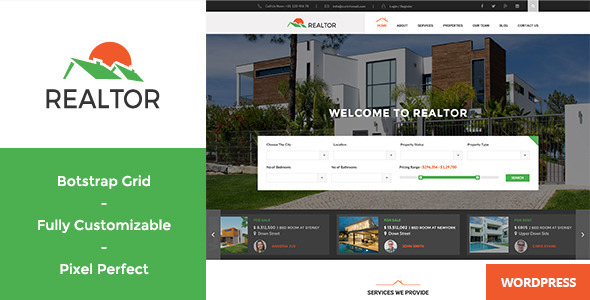 Realtor v1.2.5 — Responsive Real Estate WordPress Theme