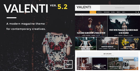 Valenti v5.2 — WordPress HD Review Magazine News Theme