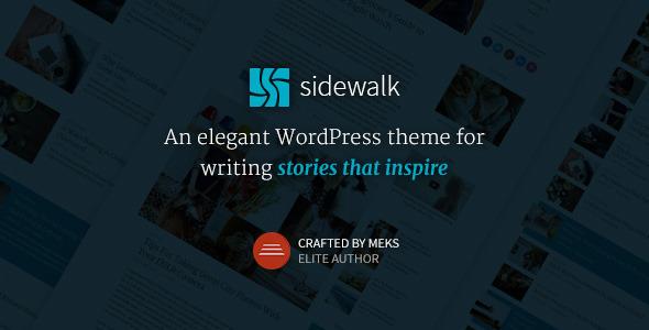 Sidewalk v1.1 — Elegant Personal Blog WordPress Theme