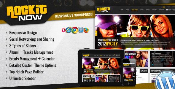 Rockit Now v2.1 — Music Band WordPress Theme