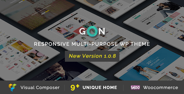 Gon v1.0.8 — Responsive Multi-Purpose WordPress Theme