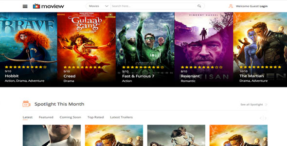 Moview v1.3 – Joomshaper Movie Database & Review