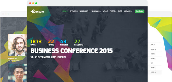 Eventum — Joomshaper Responsive Event & Conference