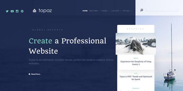 Topaz — Rockettheme Premium Joomla Template