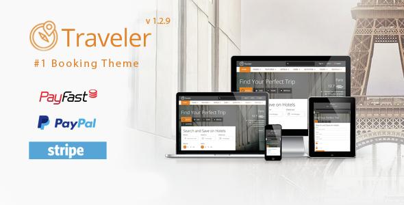 Traveler v1.2.9 — Travel/Tour/Booking WordPress Theme