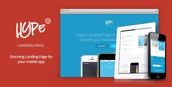 Hype v1.2 — App Landing Page