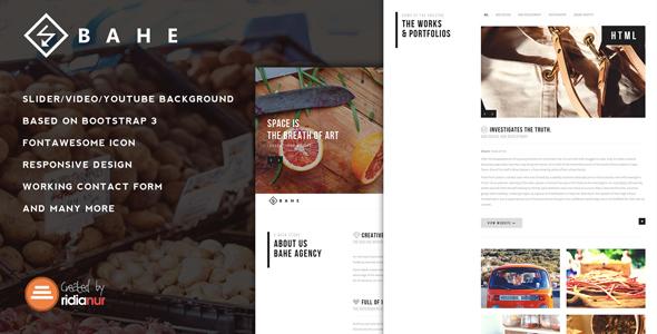 Bahe — Responsive One Page Portfolio Template