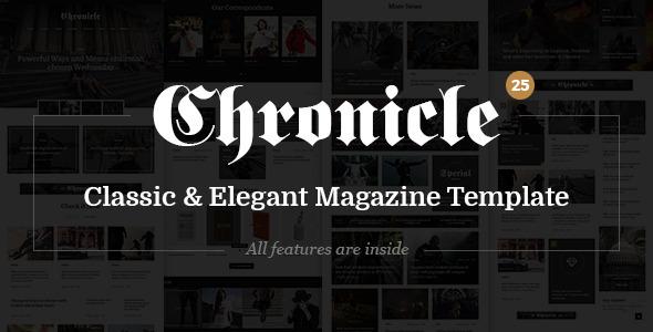 Chronicle — Premium News and Magazine PSD Template