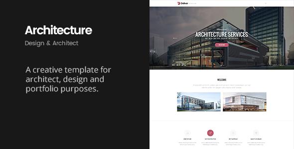 Deliver Architecture   Portfolio, Design & Architect Template