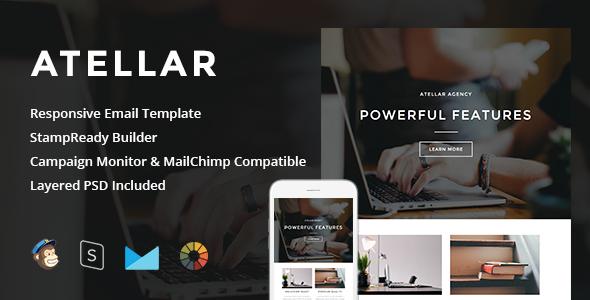 Atellar — Responsive Email + StampReady Builder