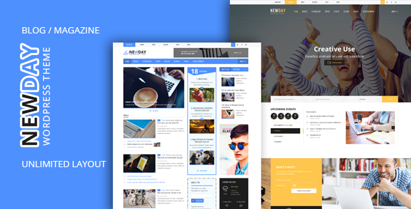 NewDay v1.5 — News & Magazine WordPress Theme