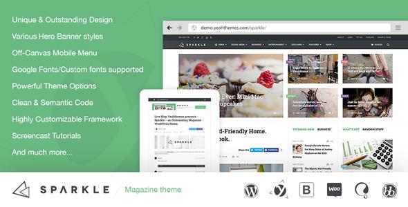 Sparkle v2.0.7 — Outstanding Magazine theme for WordPress