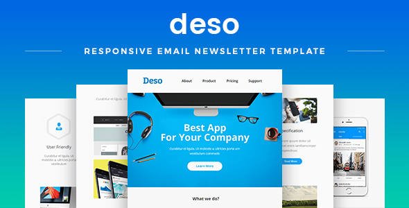 Deso — Responsive Email Newsletter Template
