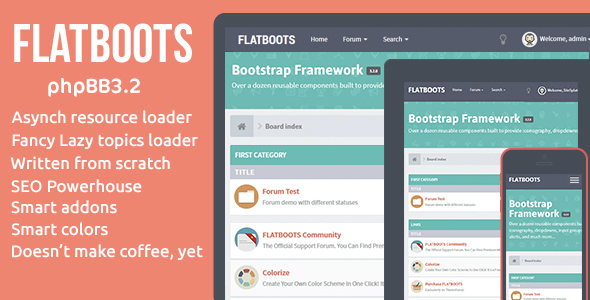 FLATBOOTS v2.0.10 — phpBB 3.2   High-Performance And Creative Modern Forum For phpBB