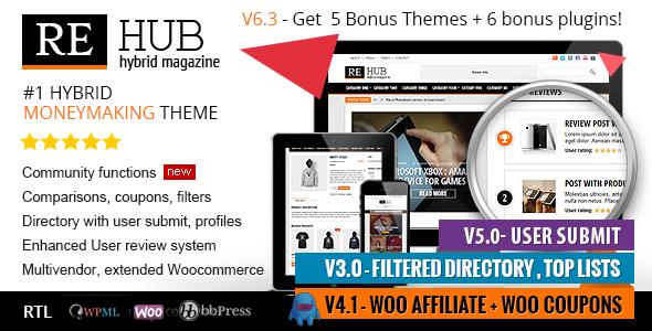 REHub v6.4.1 — Directory, Shop, Coupon, Affiliate Theme