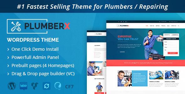 Plumber v2.2.6 — Construction and Repairing WordPress Theme