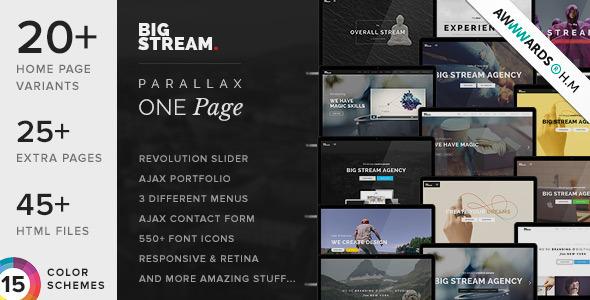 BigStream v1.5.7 — One Page Multi-Purpose Template