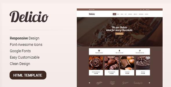 Delicio — Bakery & Food eCommerce HTML Template