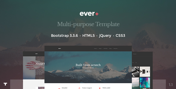 Ever+ | Responsive Multi-purpose HTML Template