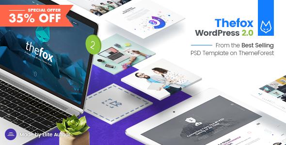 TheFox v2.0 — Responsive Multi-Purpose WordPress Theme