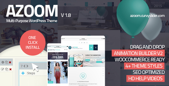 Azoom v1.8 — Multi-Purpose Theme with Animation Builder