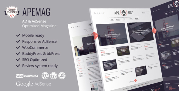 Apemag v1.0.6 — Stylish magazine with review system