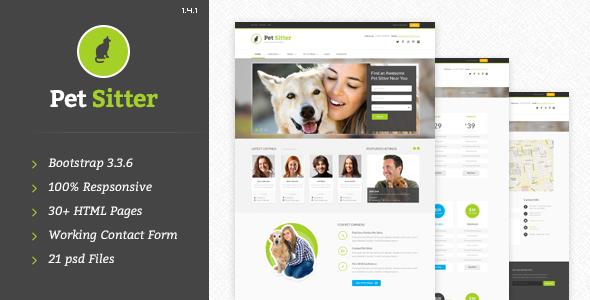 PetSitter v1.4.1 — Responsive HTML5/CSS3 Template
