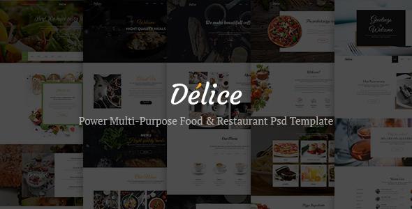 Delice — Power Multi-Purpose Food & Restaurant Psd Template