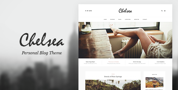 Chelsea — Personal Blog Template for Travelers and Dreamers