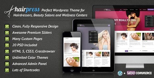 Hairpress v4.8.3 — WordPress Theme for Hair Salons