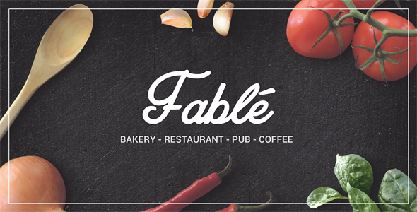 Fable — Bakery / Coffee / Pub / Restaurant Site Template