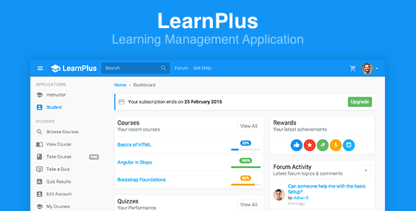 LearnPlus — Learning Management Application