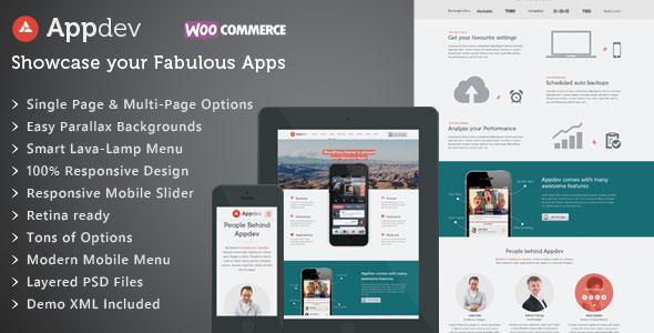 Appdev v3.2 — Mobile App Showcase WordPress Theme