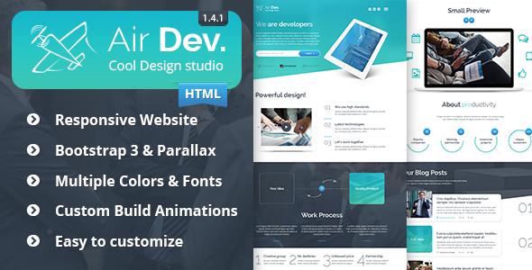 Air Dev v1.4.1 — Responsive Website Template