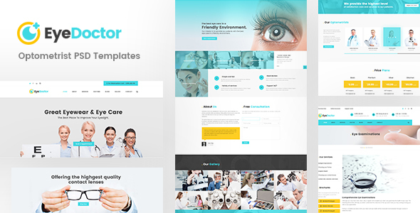 EyeDoctor — Eye specialists, Optometrists, Orthoptists PSD Template