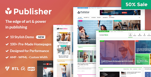 Publisher v1.6.1 — Magazine, Blog, Newspaper and Review