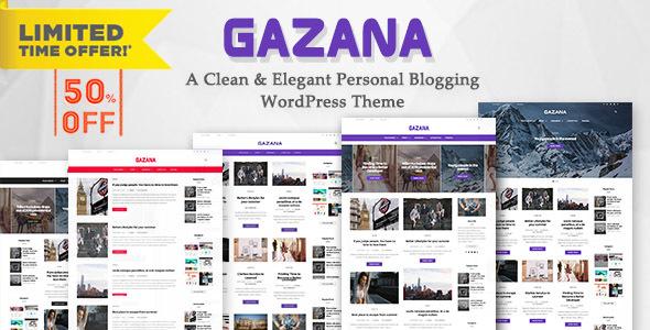 Gazana v1.7 — A Responsive WordPress Blog Theme