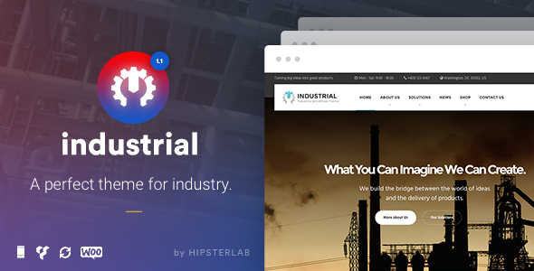Industrial — Business, Industry WordPress Theme