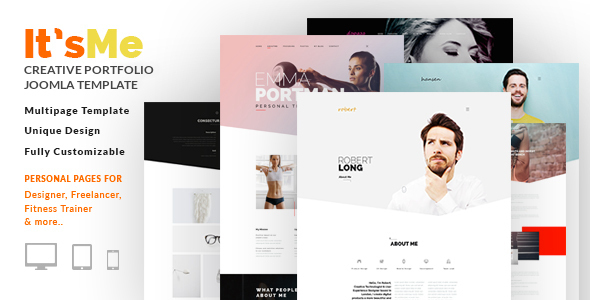 It's Me — Creative Personal Portfolio or Agency Responsive Joomla Template with 3 Styles