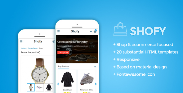 Shofy — Mobile Shop Template