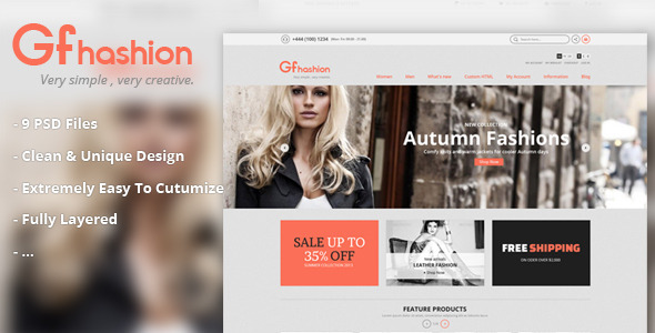GFashion Shop PSD