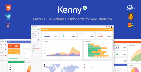 Kenny v2.0.1 — Dashboard / Admin Site Responsive Template