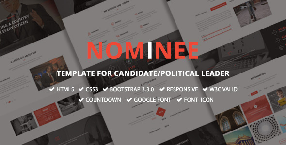 Nominee — Template for Candidate/Political Leader