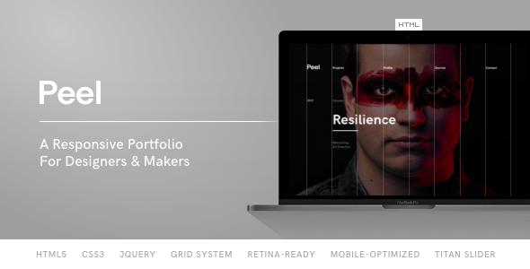 Peel — Portfolio Template For Creatives