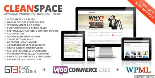 CleanSpace v2.7.3 — Retina Ready Business WP Theme
